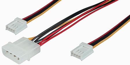 Cavetto alimentazione interno per 2 drive 3.5″ da una presa 5.25- 1 presa 5.25 a 2 prese 3.5″ (ak520)