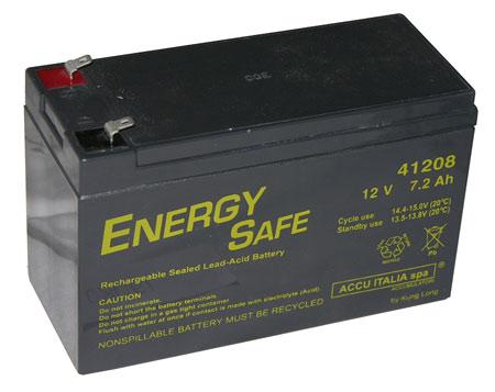 Batteria al piombo 12 volt 7 a. – misure: 15×6.50×9.50 cm.