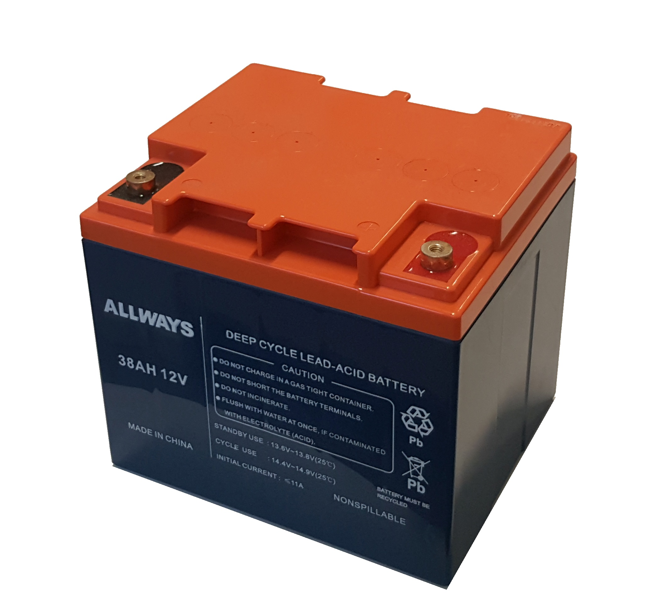 Batteria al piombo ricaricabile 38ah 12 volt
