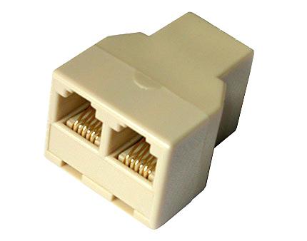 Adattatore telefonico da 1×6 poli femmina -2×6 poli femmina