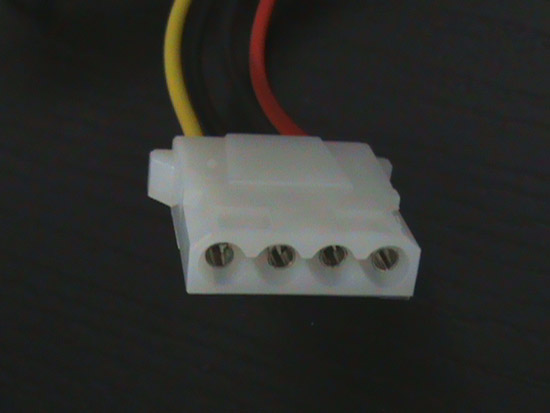 Cavetto convertitore interno da alimentatore atx a atx pentium 4- connettori 2 x 5.25 maschio/femmina 4 pin p4 (ak atx-p4)