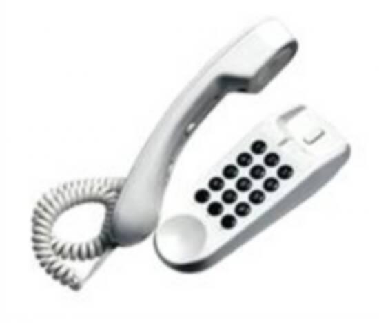 *telefono bistandard da tavolo e parete – mini bianco
