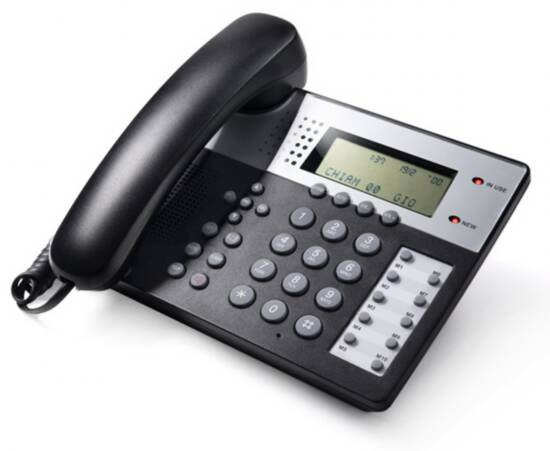 Telefono multifunzione – vivavoce – identificatore del chiamante – office 201 grigio scuro