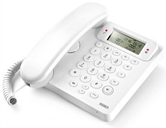 *telefono multifunzione – vivavoce – identificatore del chiamante – ego bianco