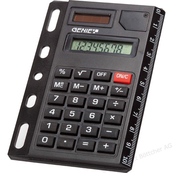 Calcolatrice solare portatile compatta 8 cifre con righello