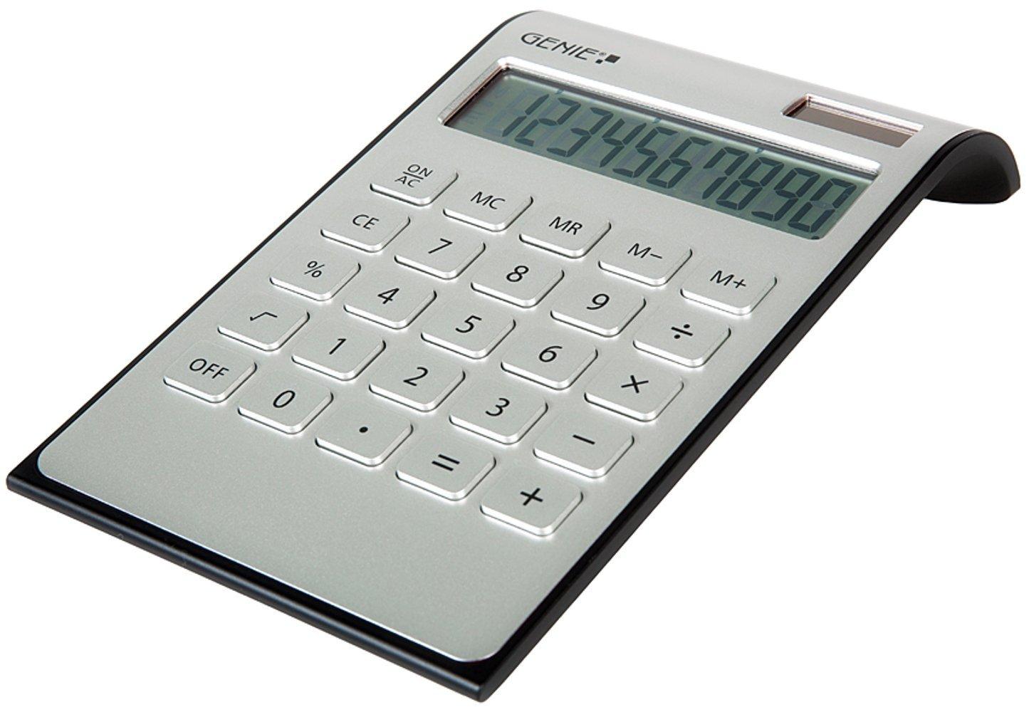 Calcolatrice da tavolo compatta 10 cifre colore argento