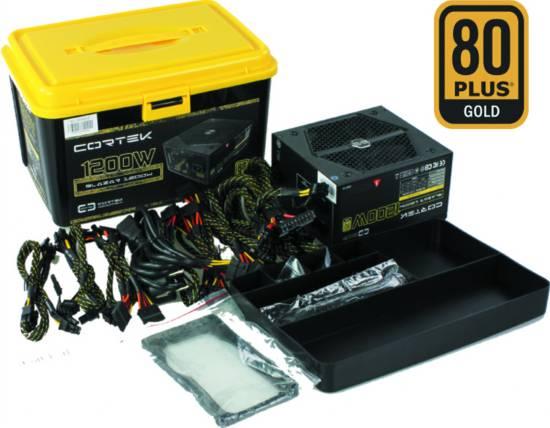 Alimentatore modulare 1200 watt 80+gold, ventola da 13,5cm, pfc attivo nero