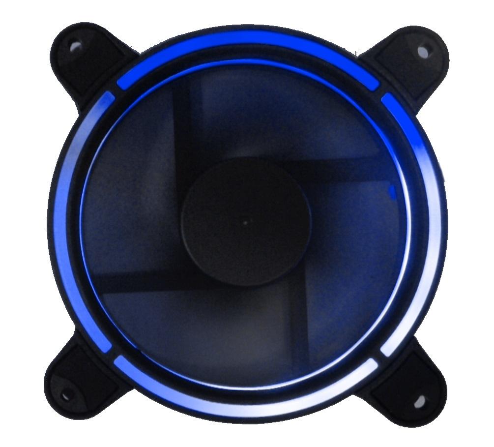 Ventola 120×120 12 volt connettore 3 poli+4 poli molex luce blu
