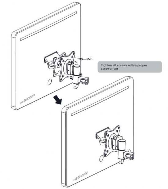 Adattatore vesa per monitor apple e imac digitus