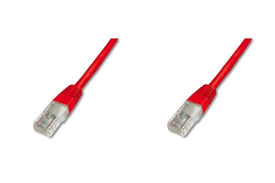 Cavo rete utp cat. 5e non schermato – lunghezza mt. 30 – colore rosso