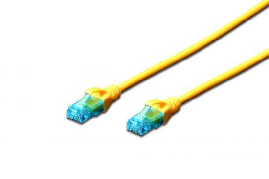 Cavo rete utp cat. 5e non schermato – lunghezza mt. 30 – colore giallo