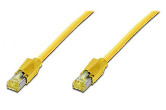 *cavo rete s-ftp cat. 7 con connettori 6a lsoh mt 10 colore giallo
