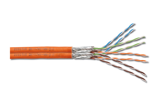 Cavo duplex solido doppia schermatura s-ftp per reti categoria 7 in rame matassa mt. 500 classe cpr: eca
