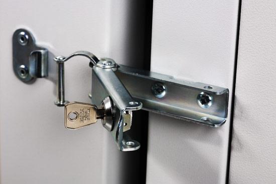 Armadio 12 unita' da muro linea soho (a)624 x (l)600 x (p)610 mm. con doppia sezione colore grigio chiaro ral7035