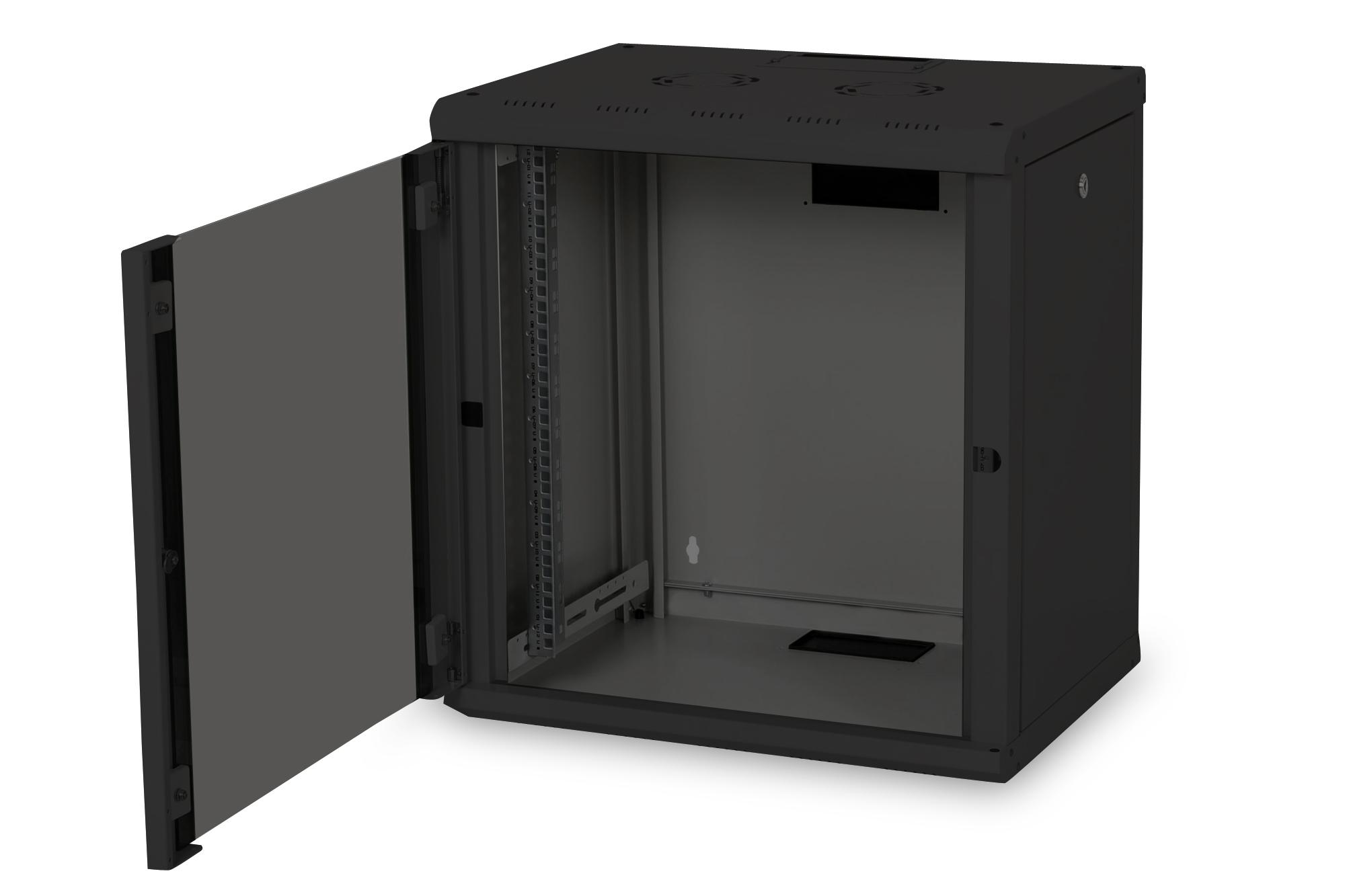 Armadio 12 unita' da muro linea soho (a)643 x (l)600 x (p)450 mm. colore nero