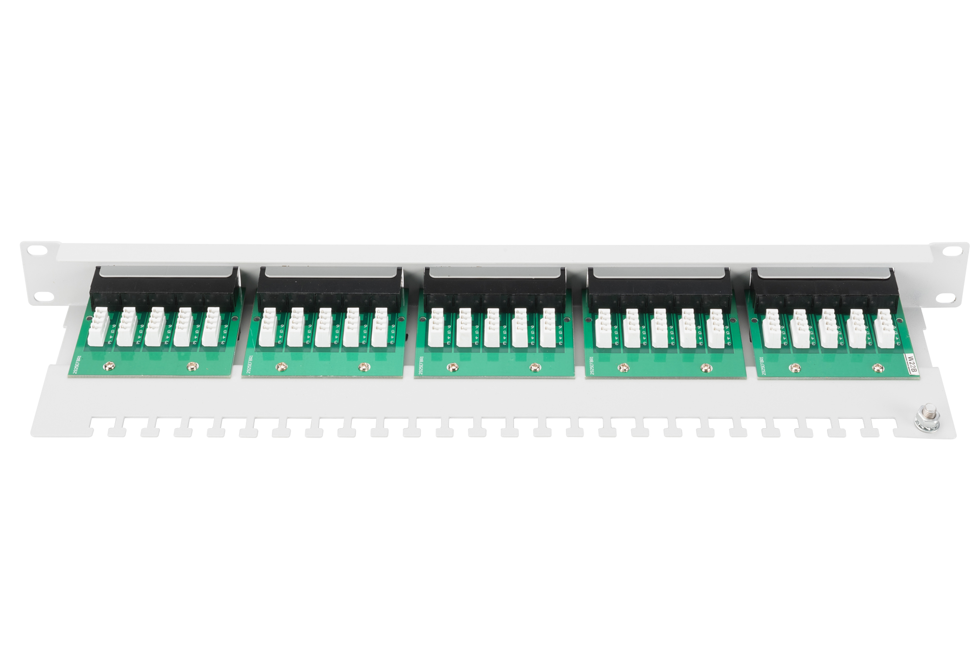 Pannello patch per isdn 19″ categoria 3 – 25 porte 8 poli
