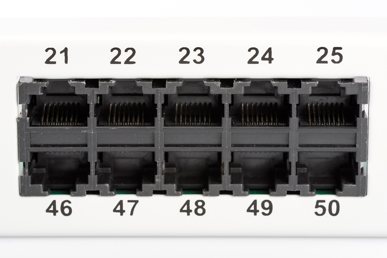 Pannello patch per isdn 19″ categoria 3 – 50 porte 8 poli