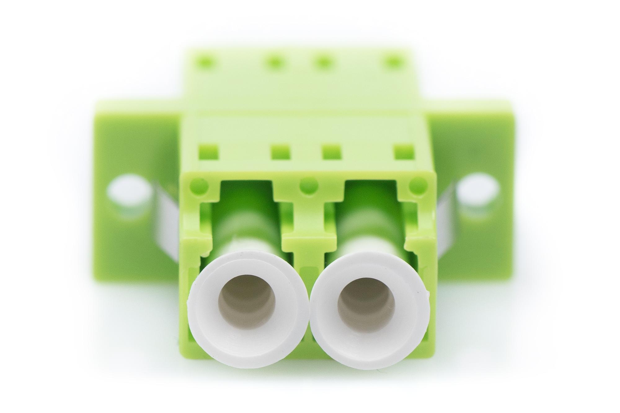 Adattatore fibra ottica lc femmina/lc femmina multimode om5