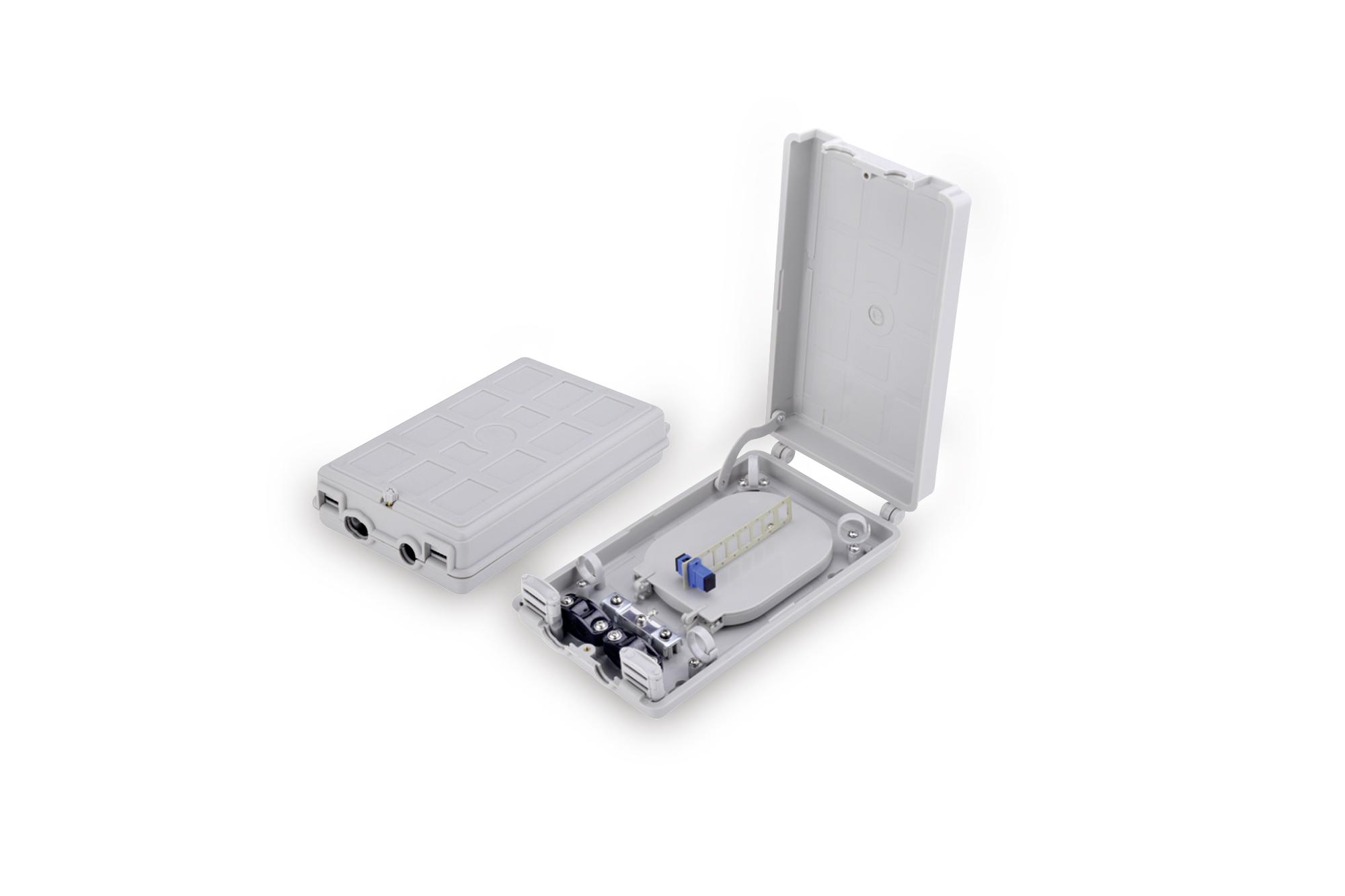 Box distribuzione fibra ottica per 8 connettore sc simplex digitus