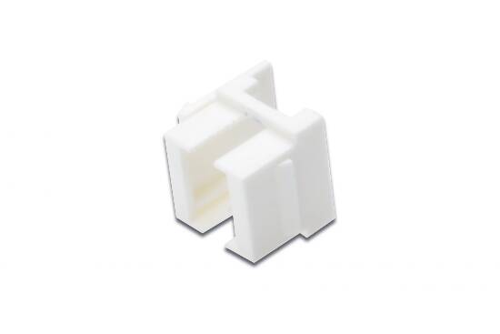 Adattatore colore bianco per pannelli patch vuoti o prese lc