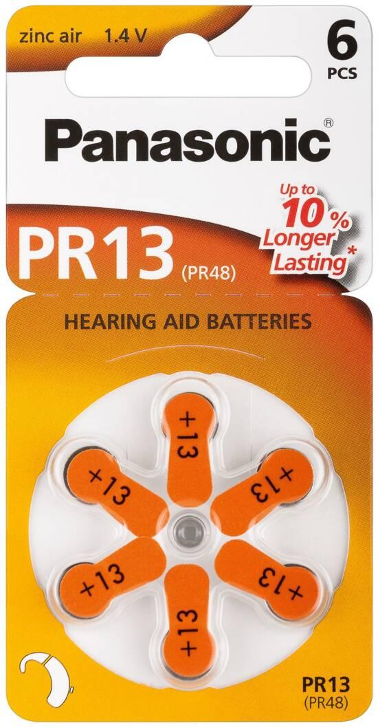 Confezione 6 pile a bottone 1,4 volt zinco pr48 (pr13)