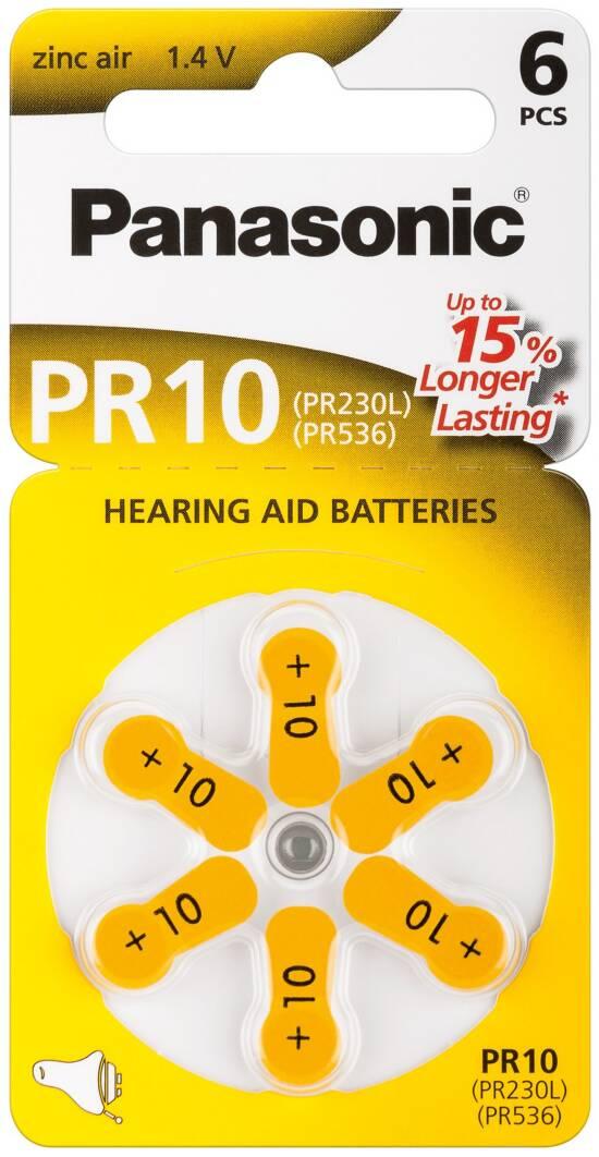 Confezione 6 pile a bottone 1,4 volt zinco pr70 (pr10)