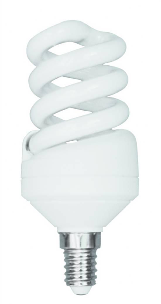 *lampada a risparmio energetico 11 watt luce calda (2700k)  e14  mini-spirale
