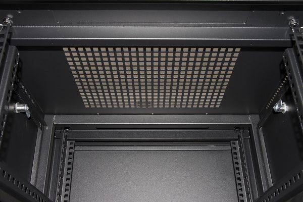 Armadio rack 19″ 27u (a)1388 (l)600 (p)600 colore nero porta vetro
