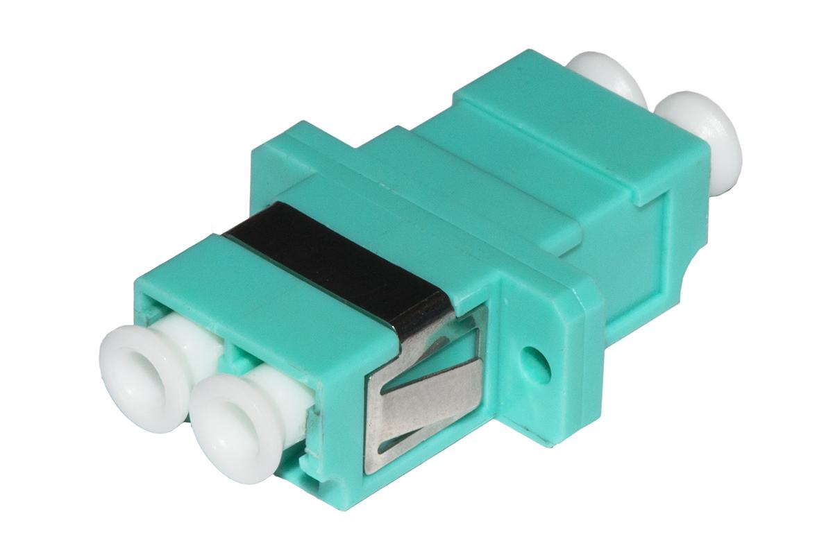 Adattatore fibra ottica lc/lc multimode duplex om3