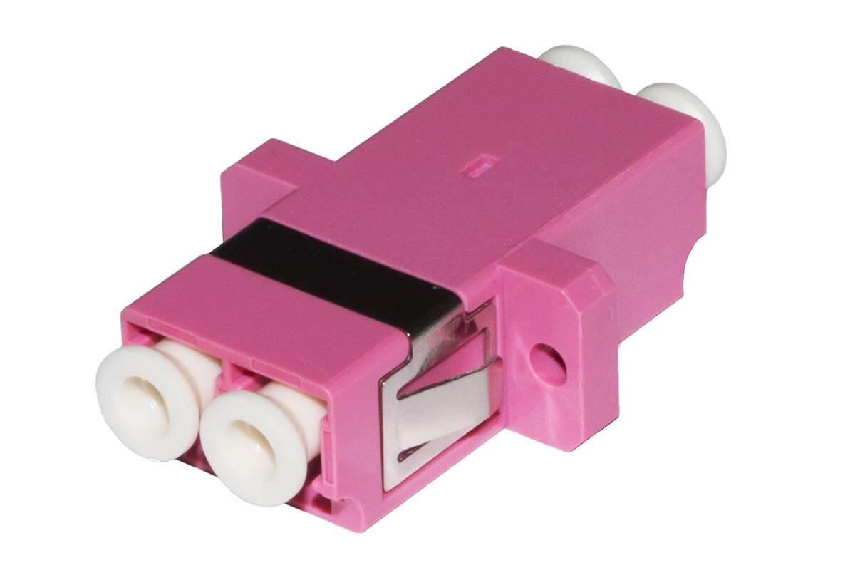 Adattatore fibra ottica lc/lc multimode duplex om4