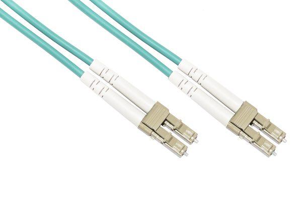 Cavo fibra ottica lc a lc multimode duplex om3 50/125 mt.1