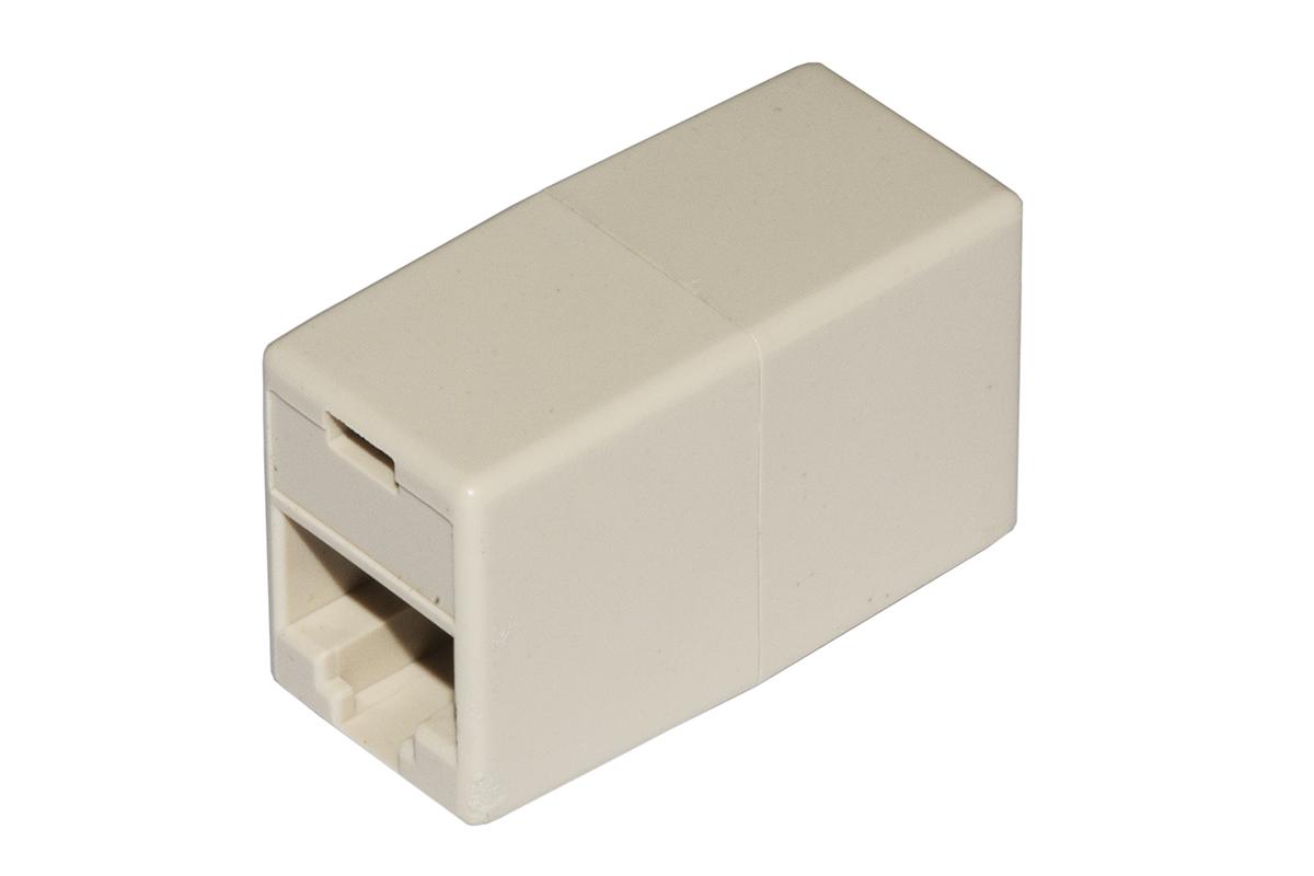 Accoppiatore telefonico 2 connettori rj45 – 8p8c femmina/femmina colore bianco
