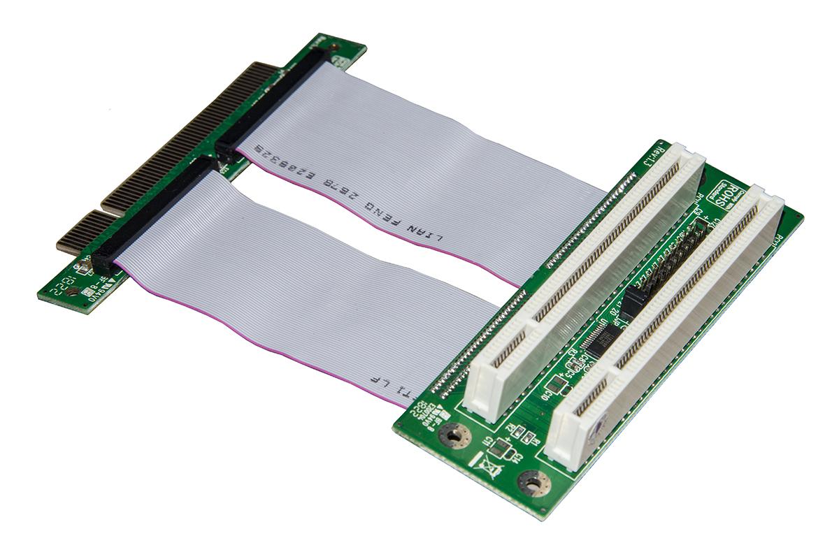 Riser card 1 slot pci 32 bit a 2 slot pci 32 bit con cavo 10 cm