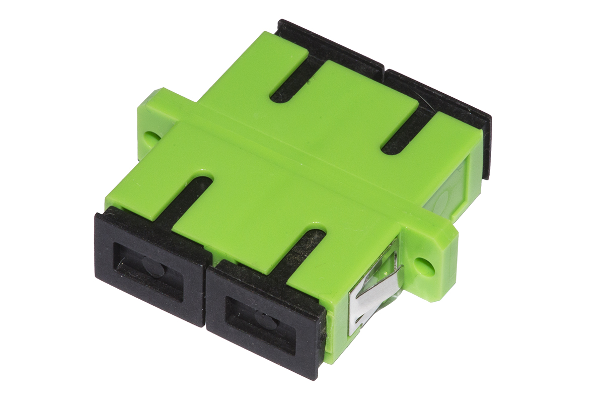 Adattatore fibra ottica sc/sc apc duplex singlemode