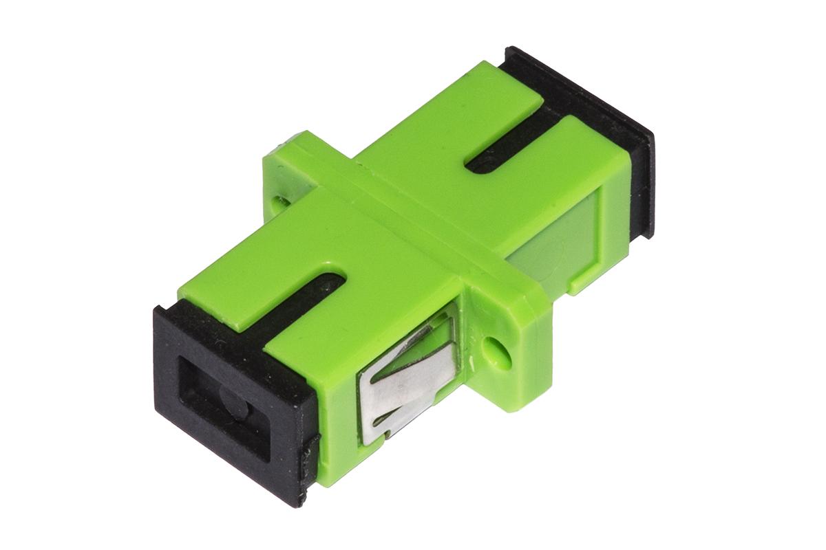 Adattatore fibra ottica sc/sc apc simplex singlemode
