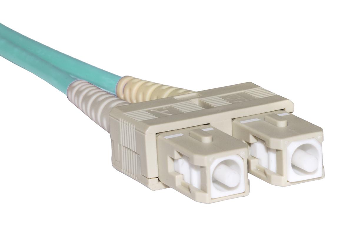 Cavo fibra ottica sc a sc multimode duplex om3 50/125 mt.2