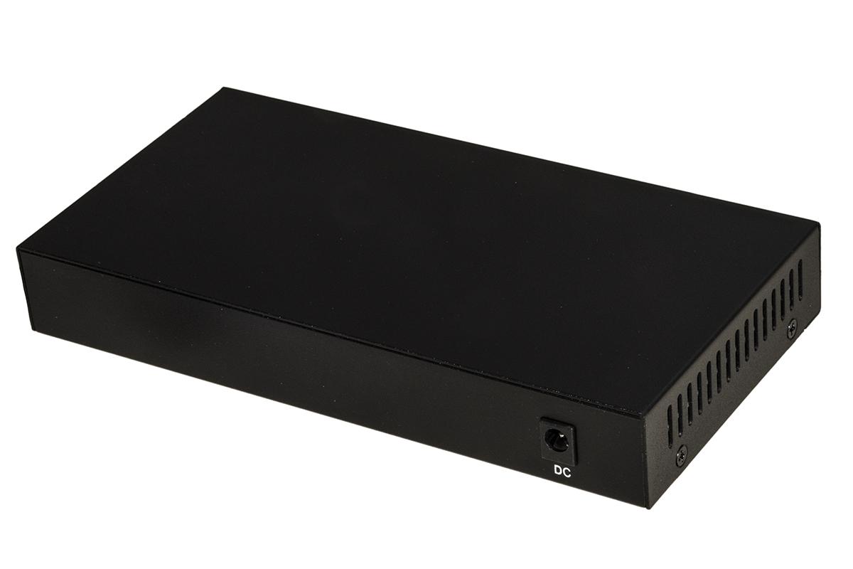 Switch di rete 8 porte poe + 1 porta uplink 10/100