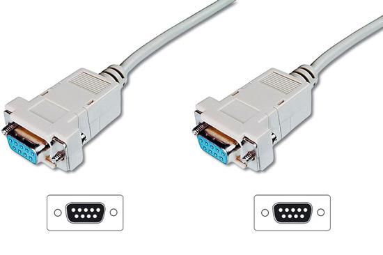 Cavo null modem computer seriale rs232 crossover (incrociato) 9 poli femmina/femmina mt.2