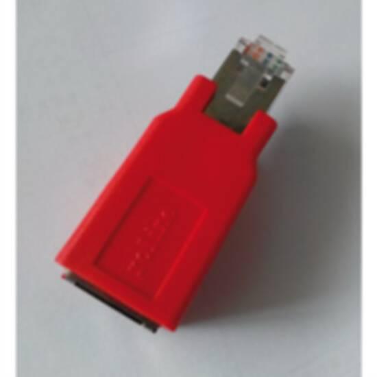 Adattatore incrociato per cavi rete rj45 schermato cat 5e
