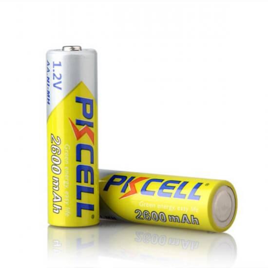 Batterie ricaricabili stilo aa ni-mh 2600 mah 1,2 v blister 4 pezzi