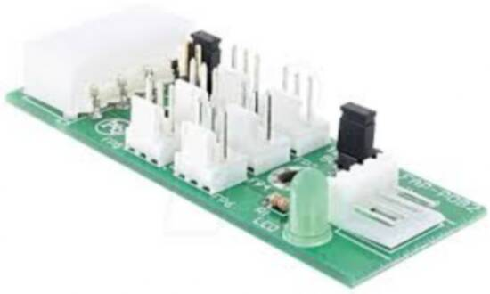 Scheda di distribuzione per 6 ventole 5/12 volt