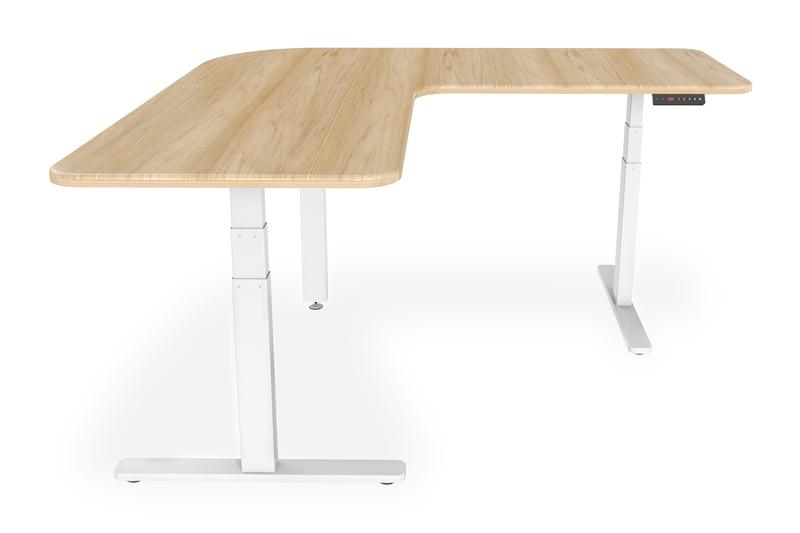 Supporto per scrivania per lavorare seduti o in piedi regolabile in altezza elettricamente forma a l digitus