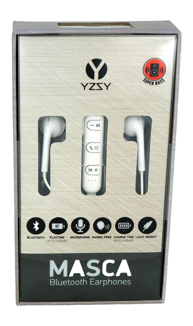 Auricolari bluetooth con microfono colore bianco