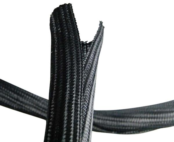 Canalina per cavi apribile senza attrezzi flessibile in poliestere 19 mm non infiammabile confezione 5 mt