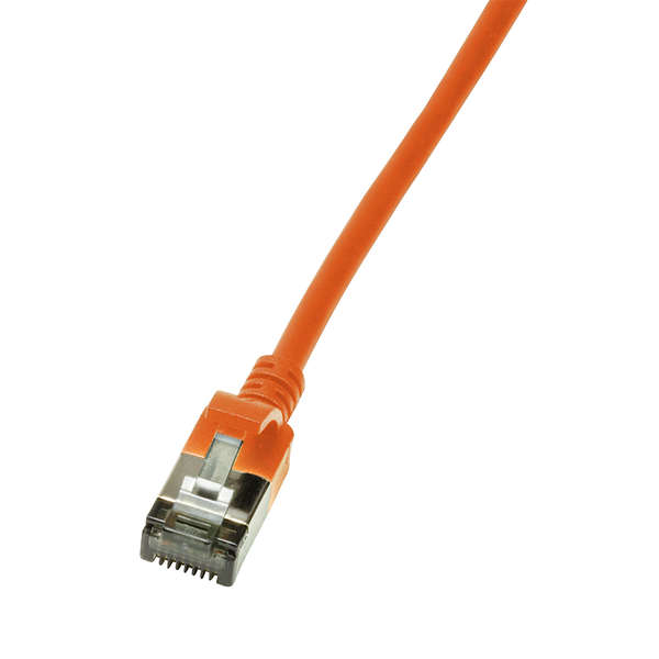 Cavo di rete cat.6a stp tpe slimline arancione 0,5m