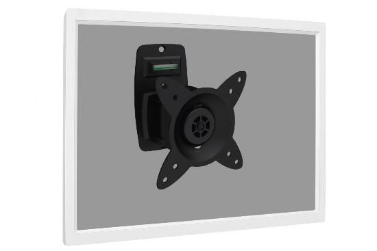 Supporto a parete a uno snodo per schermi fino a 27″ (15kg)