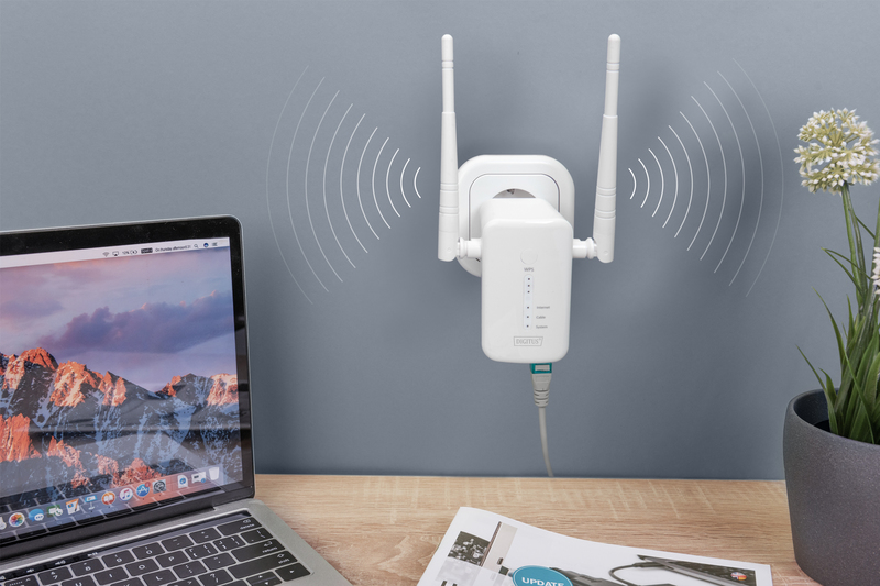 Mesh system wireless 1200mbps dual band kit 3 pezzi 2.4/5.8ghz, wps, 1x lan, 1x wlan