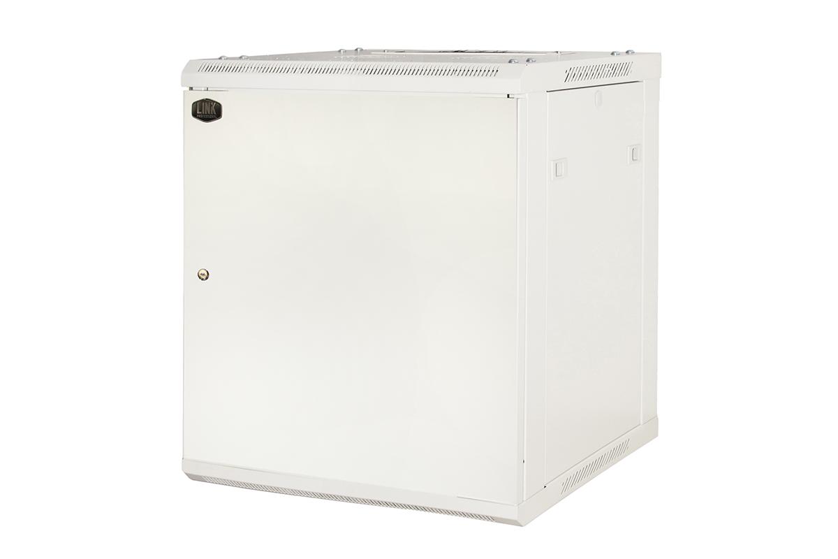 Armadio rack 19″ 9 unita' da muro a) 500 x (l) 600 x (p) 450 grigio disassemblato porta metallo pieno