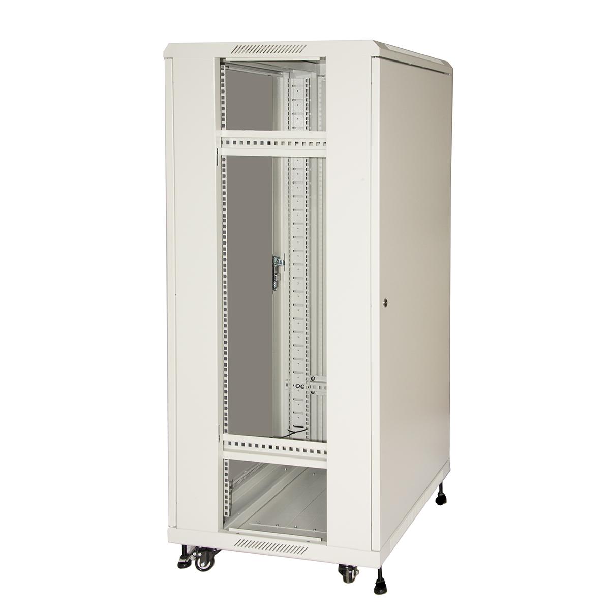 Armadio rack 19″ 27u (a)1388 (l)600 (p)600 colore grigio porta metallo pieno