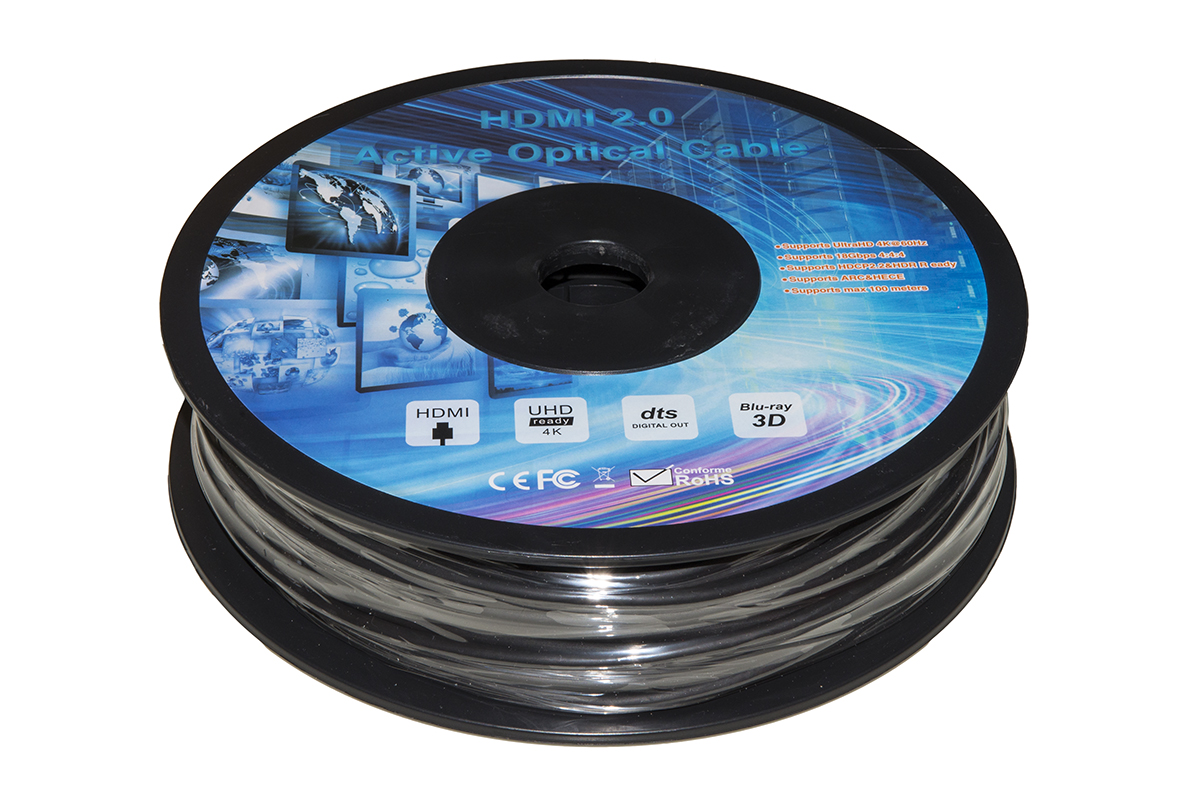 Cavo fibra ottica aoc hdmi 2.0, hdcp, arc, edid 4k@60hz@4:4:4 ibrido mt 40